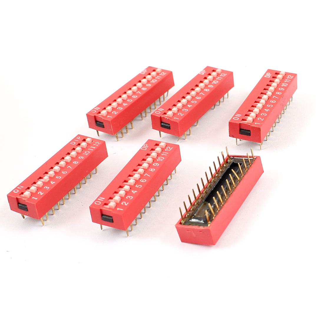 6pcs DIP Switch 24 Pins 12 Positions Sliding Switches 2.54mm Pitch