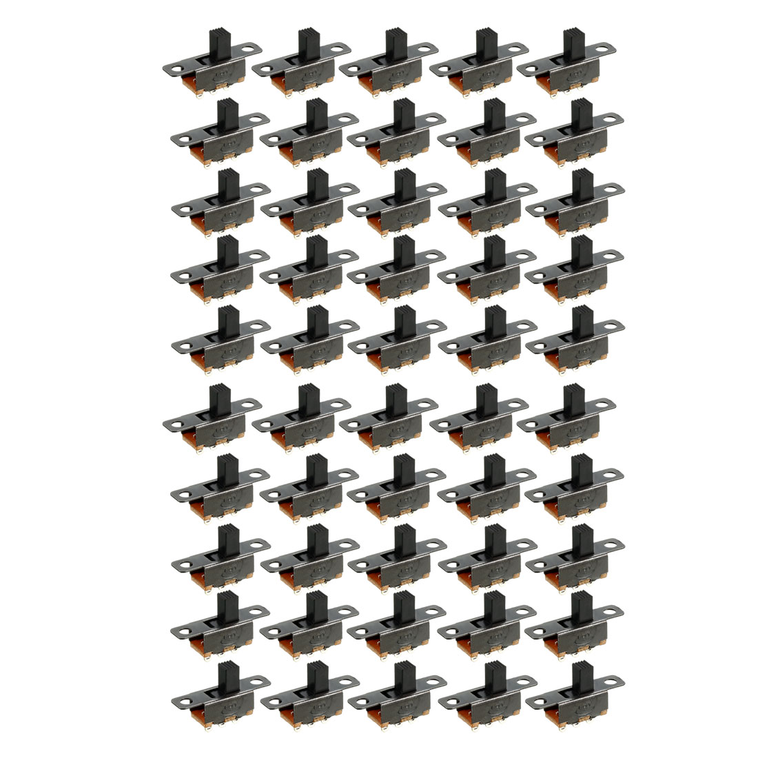 55 Pcs 3 Terminals PCB Mount 2 Position SPDT Horizontal Micro Mini Slide Switch
