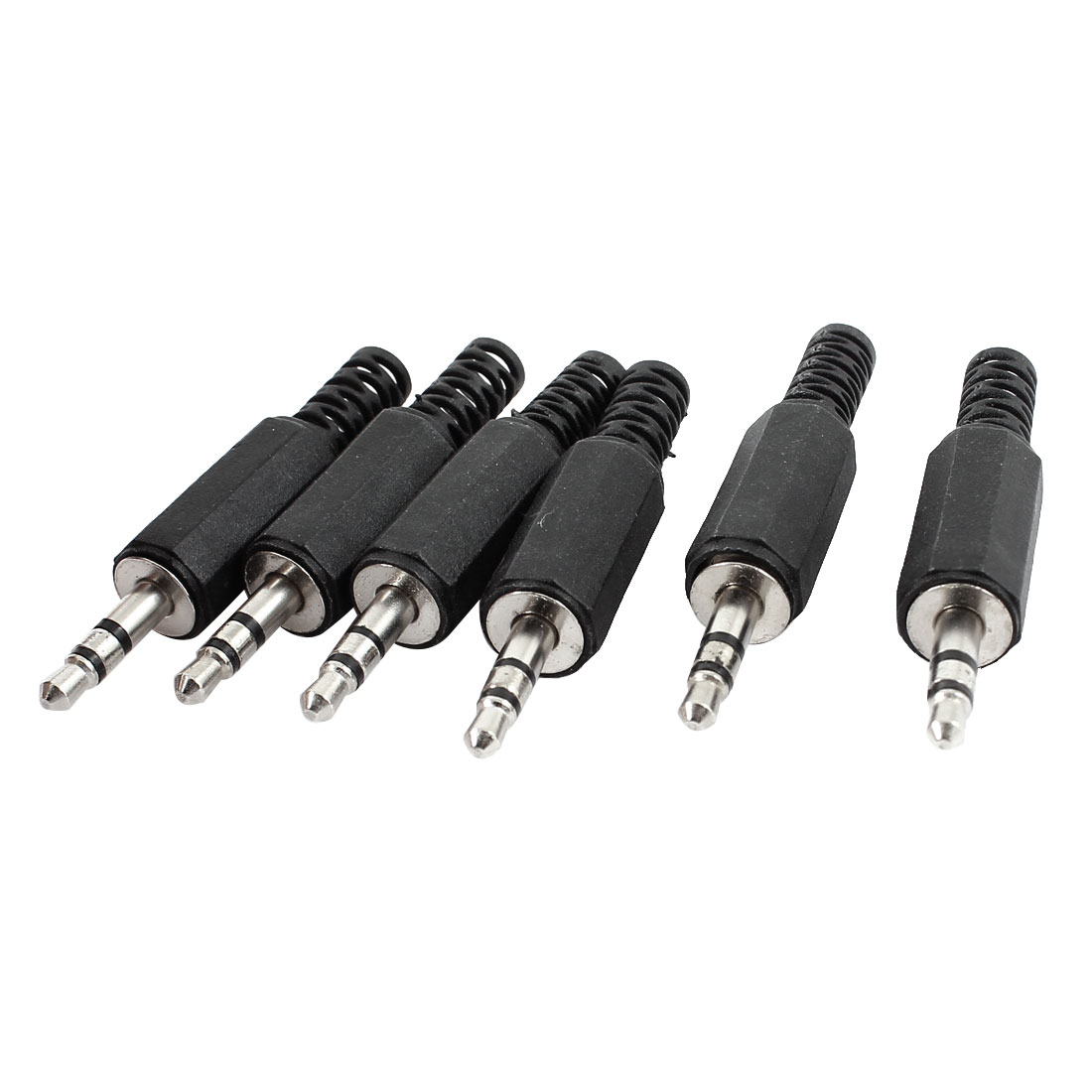 6 Pcs 3.5mm Male Stereo Audio Jack Adapter Connector for MP3 Headphone
