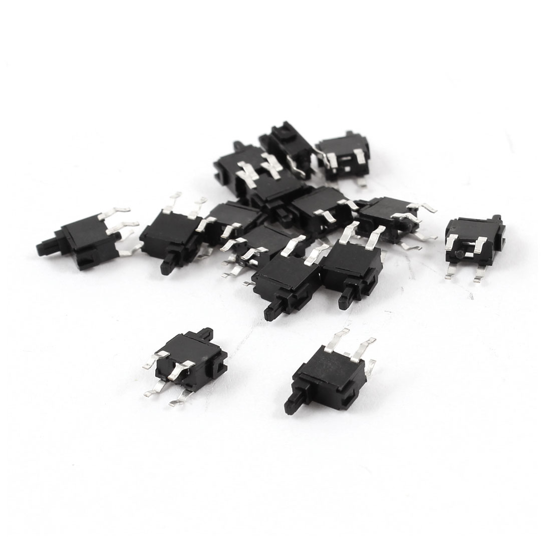 15 Pcs 4 Pins DPST PCB Mounted Momentary Action Push Button Micro Switch