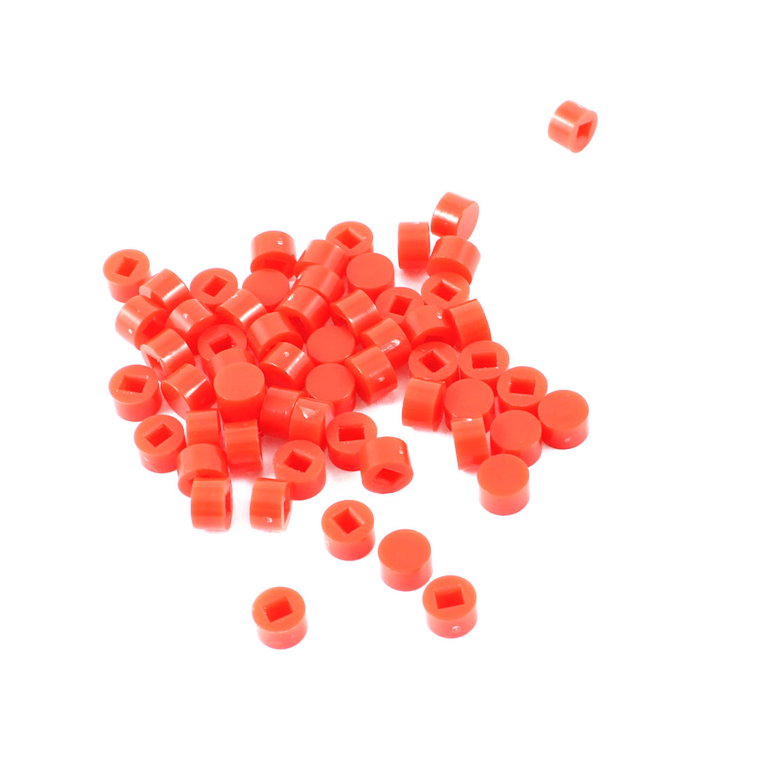 55 Pcs Round Tactile Button Caps Covers Protector Red for Tact Switch