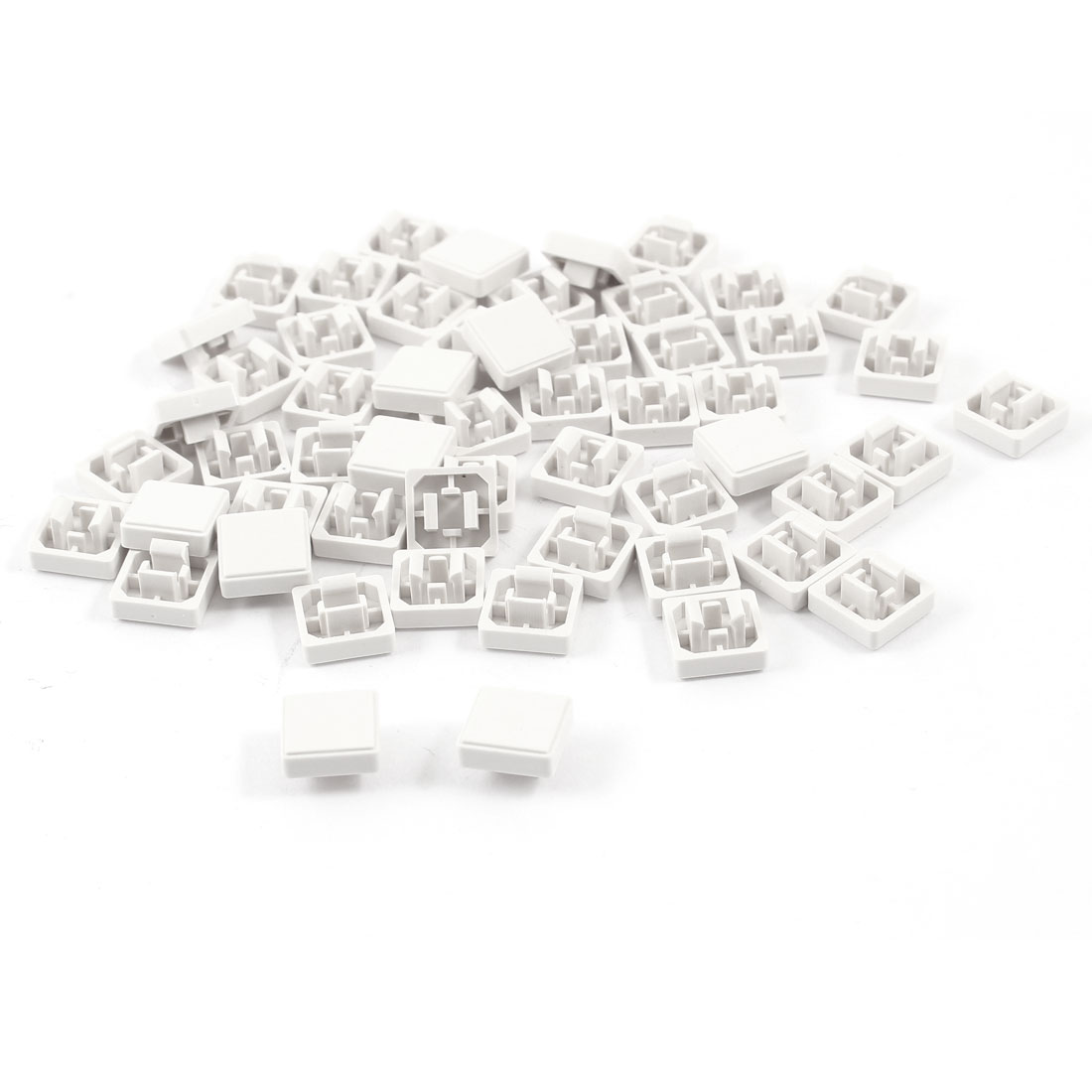 55 Pcs Square Tactile Button Caps Covers Protector White for 12mmx12 Tact Switch