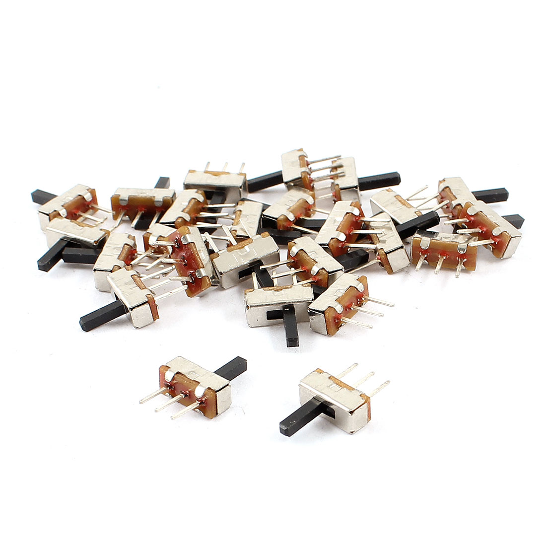 25 Pcs 3 Terminals PCB Mount 2 Position SPDT Horizontal Miniature Mini Slide Switch