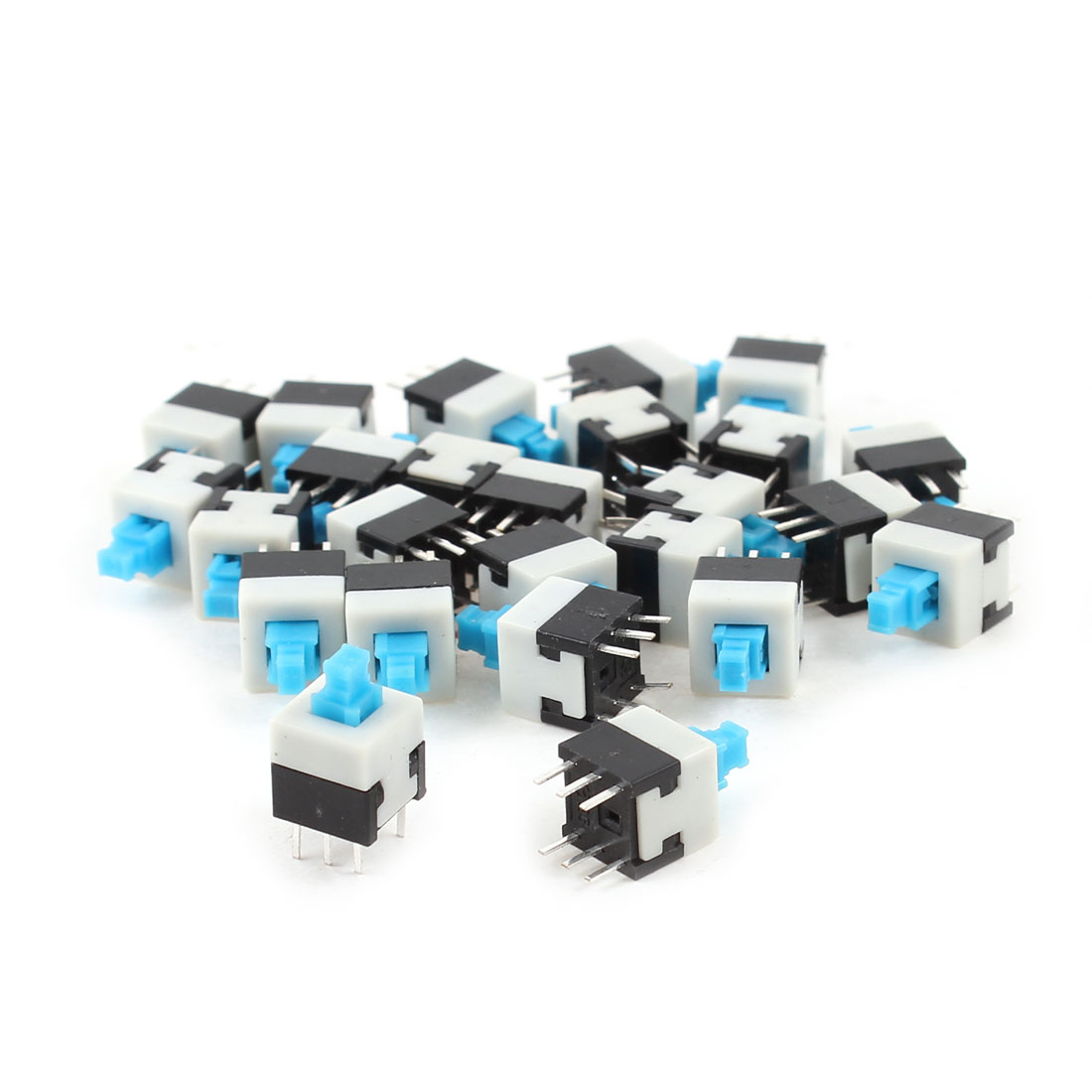 25Pcs 6 Pin 8.5mmx8.5mm Self-locking DPDT Mini Computer Reset Push Button Switch