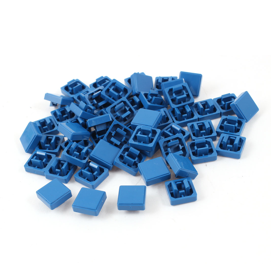 55 Pcs Square Shaped Tactile Button Caps Covers Protector Blue for 12mmx12 Tact Switch