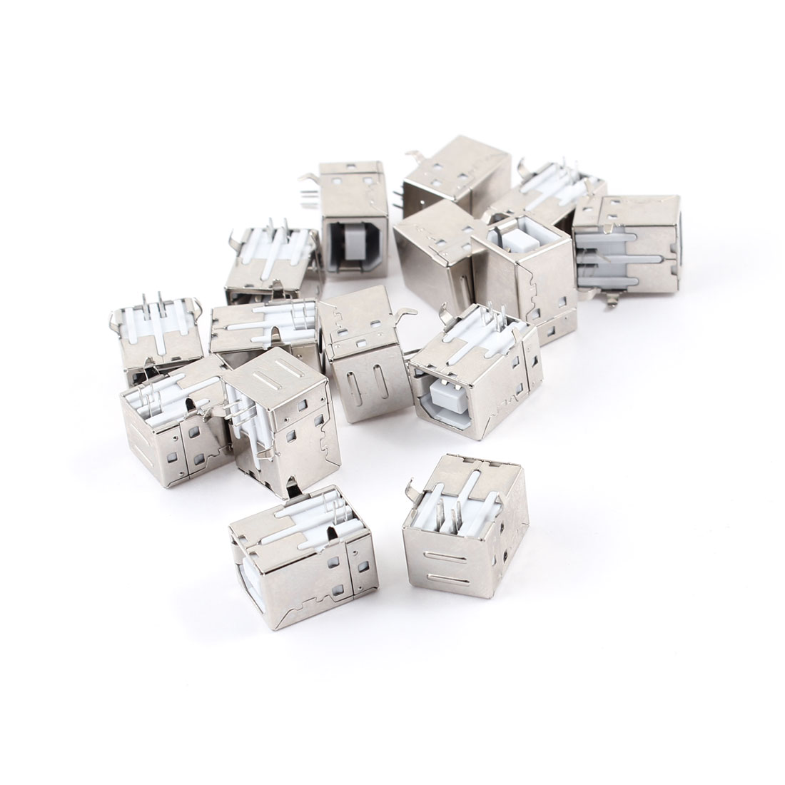 15pcs Right Angle 4-Pin USB 2.0 Type B Female Socket Printer Connector Adapter