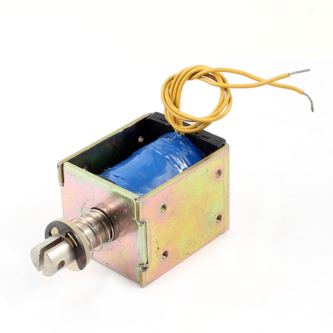 10mm/300g 7.57W Power Wired Open Frame Pull Type Solenoid Electromagnet DC 12V 0.63A