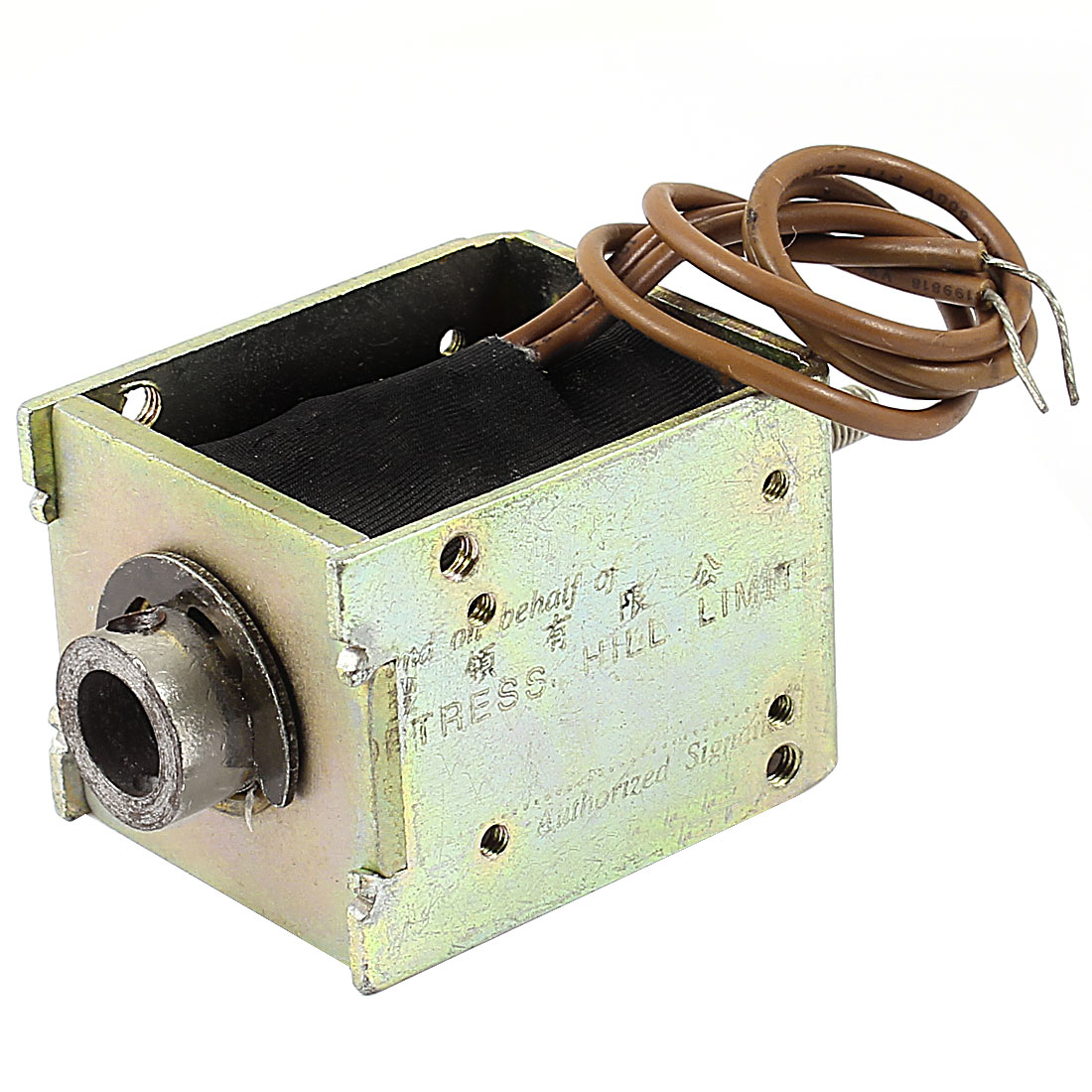 12mm/400g 60.63W Power Wired Open Frame Push Pull Type Solenoid Electromagnet DC 48V 1.26A