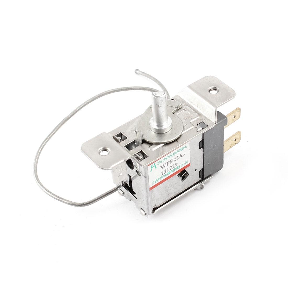 AC 220-250V 5(4)A -15 to 21 Celsius 2 Terminals Freezer Refrigerator Thermostat