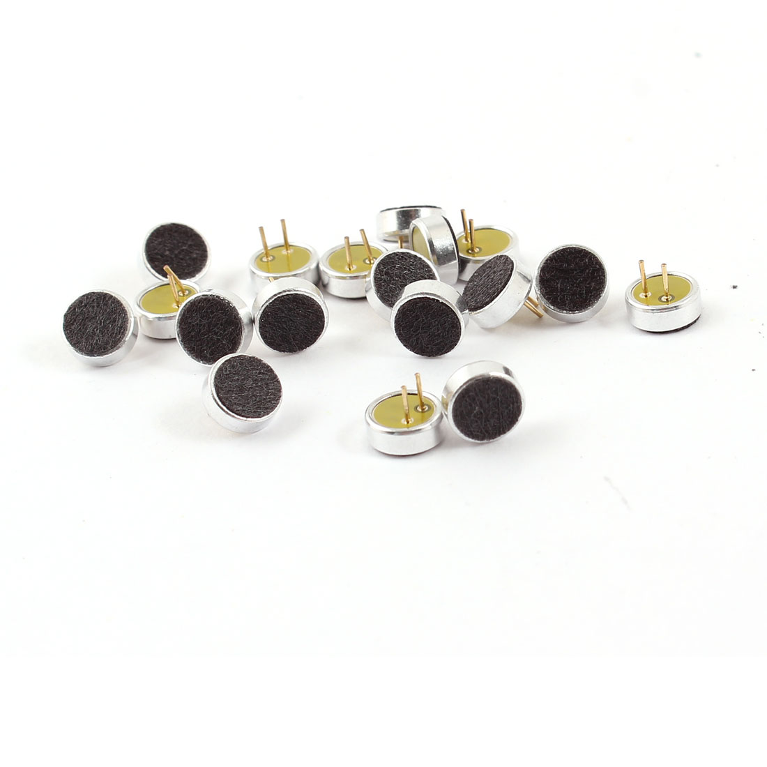18 Pcs 2 Pin Round 6mm Dia Electret Condenser Microphone MIC Capsule