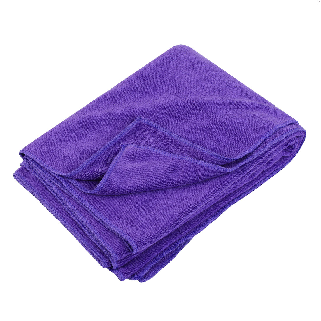Purple Rectangle Microfiber Cleaning Cloth Towel Cleaner 180x60cm for Car Vehicle