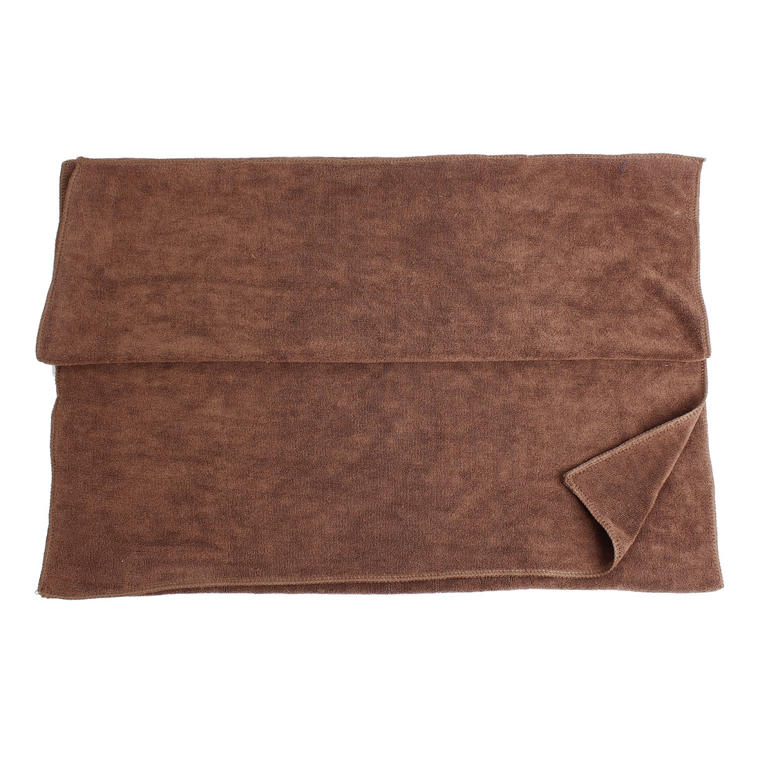 160cm x 60cm Microfiber Water Absorption Cleaning Cloth Towel Brown for Car Vehicle