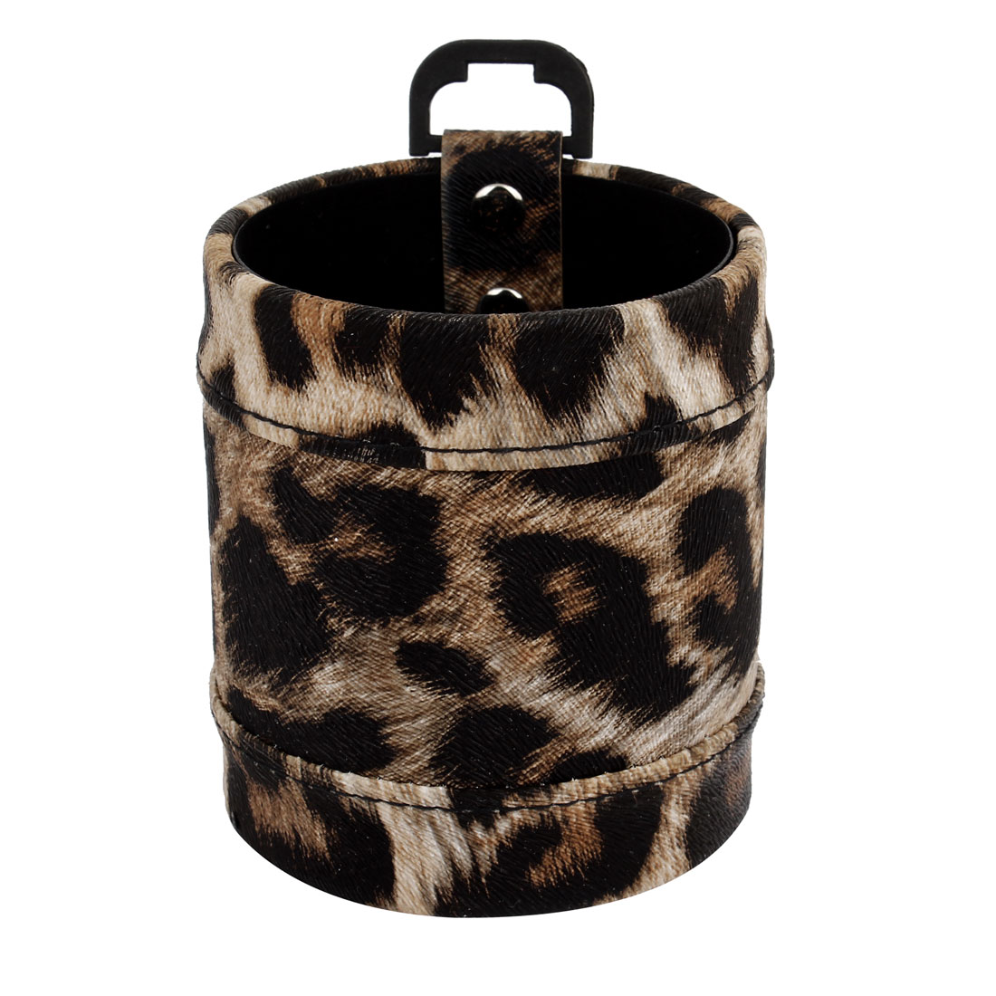 Vehicles Car Air Vent Black Brown Leopard Print Faux Leather Cell Phone Pouch Case Bag