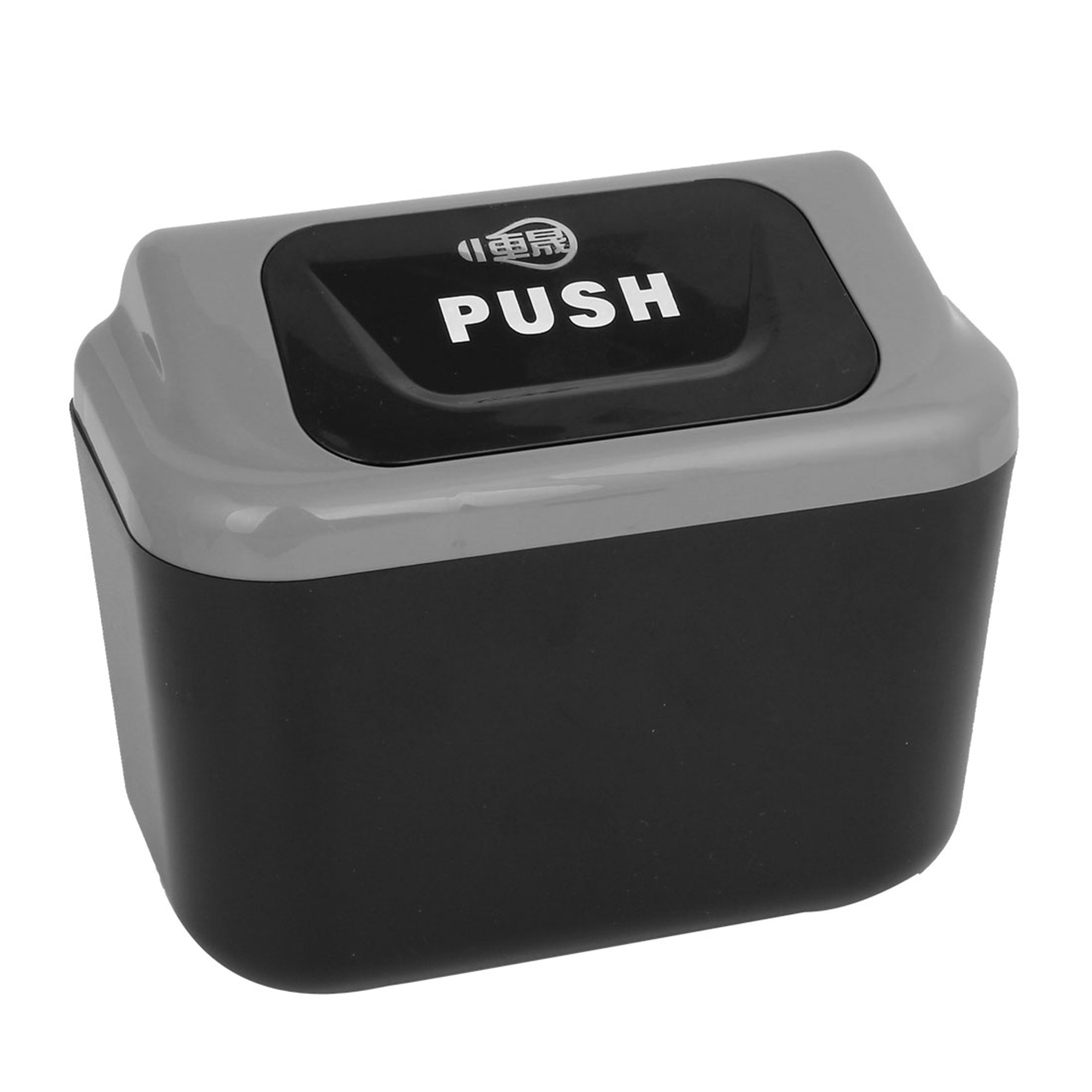 Mini Auto Car Trash Rubbish Can Garbage Dust Case Holder Box Bin Black Gray