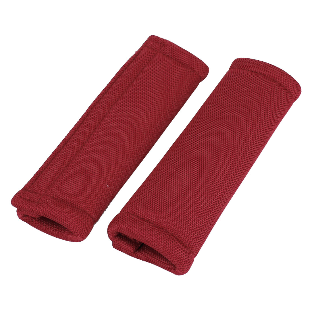 2 Pcs Vehicle Safety Seat Belt Seatbelt Protector Cover Shoulder Pad Red 21cm Long