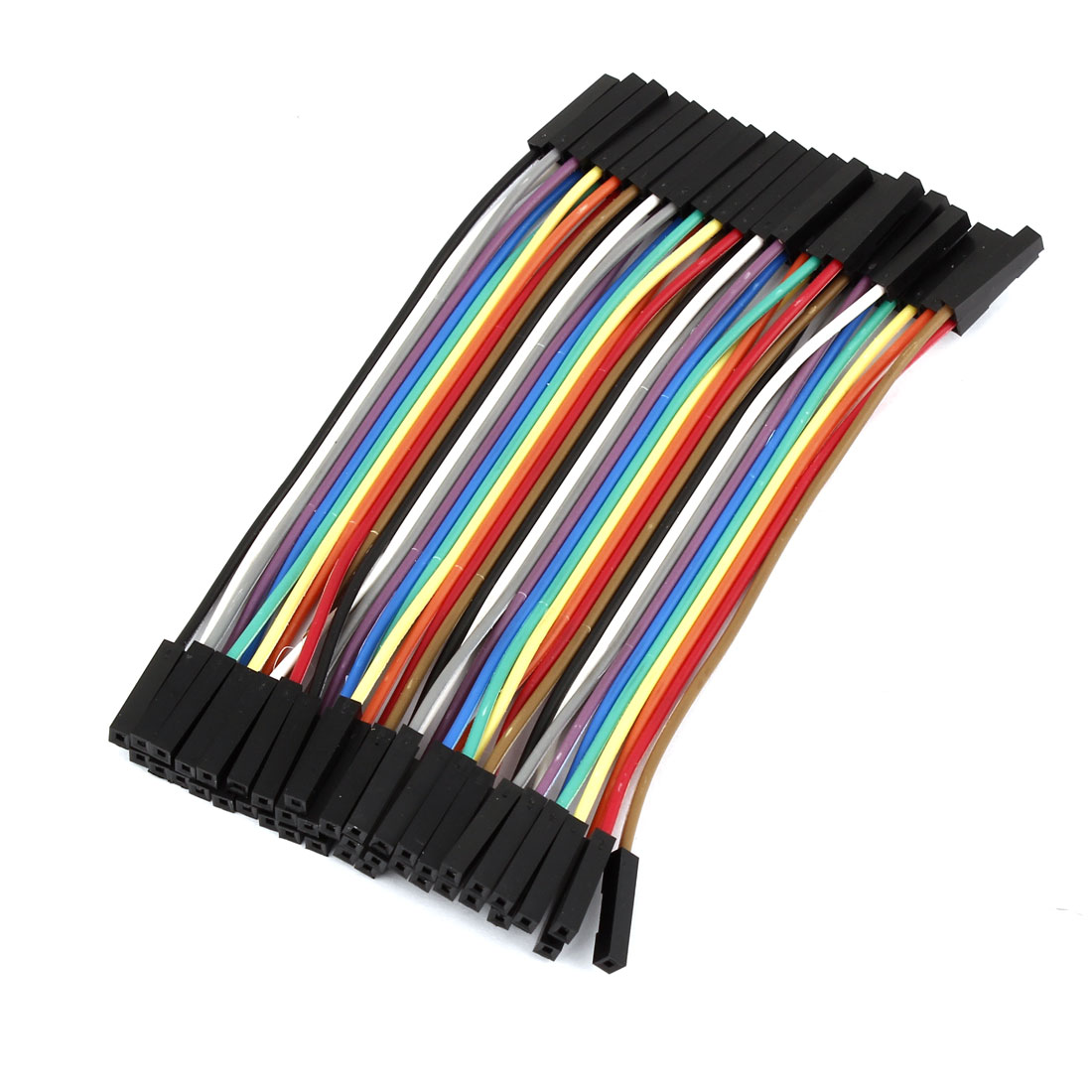 10cm 2.54mm 40-Pin Female to Female Connecting Jumper Wire Cable