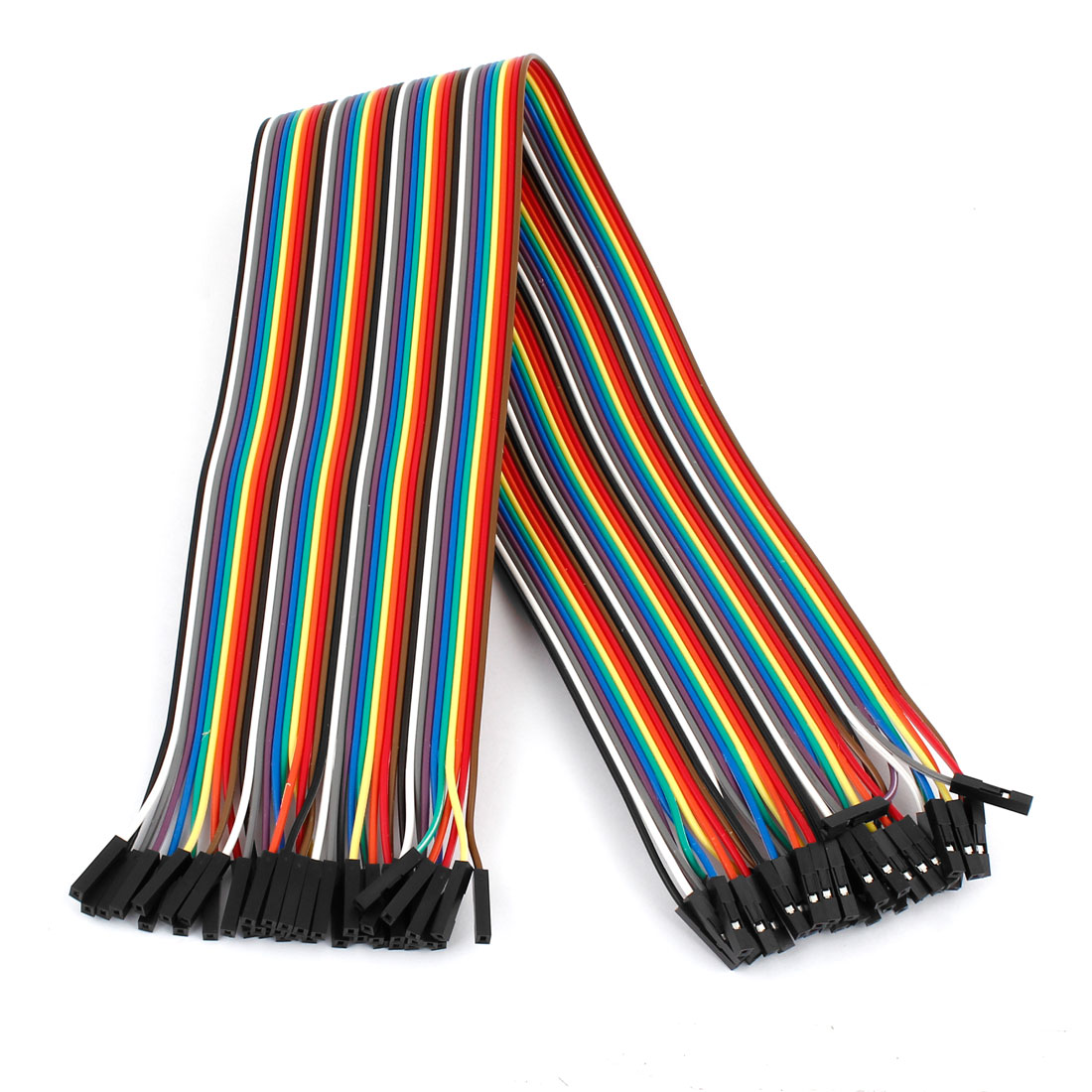 40cm 2.54mm F/F 40 Pin Solderless Colored Flexible Breadboard Jumper Wire