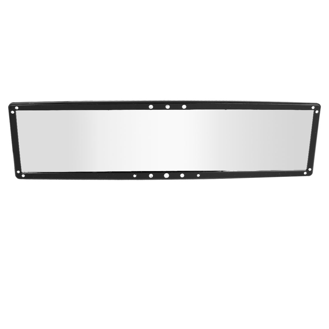 280mm Flat Plastic Rhinestone Decor Car Interior Rear View Mirror Black