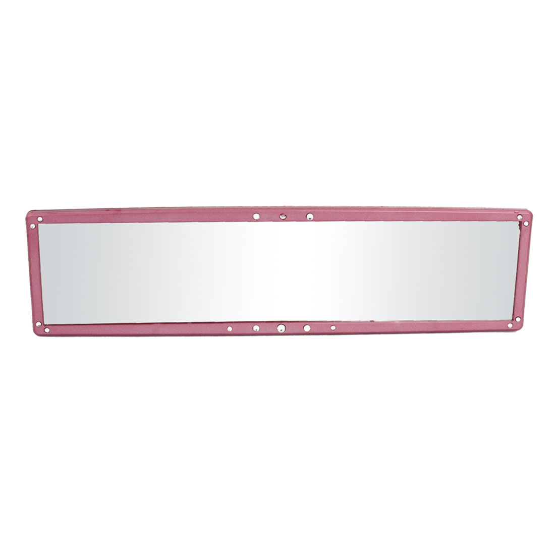 280mm Flat Pink Plastic Rhinestone Decoration Car Interior Rear View Mirror