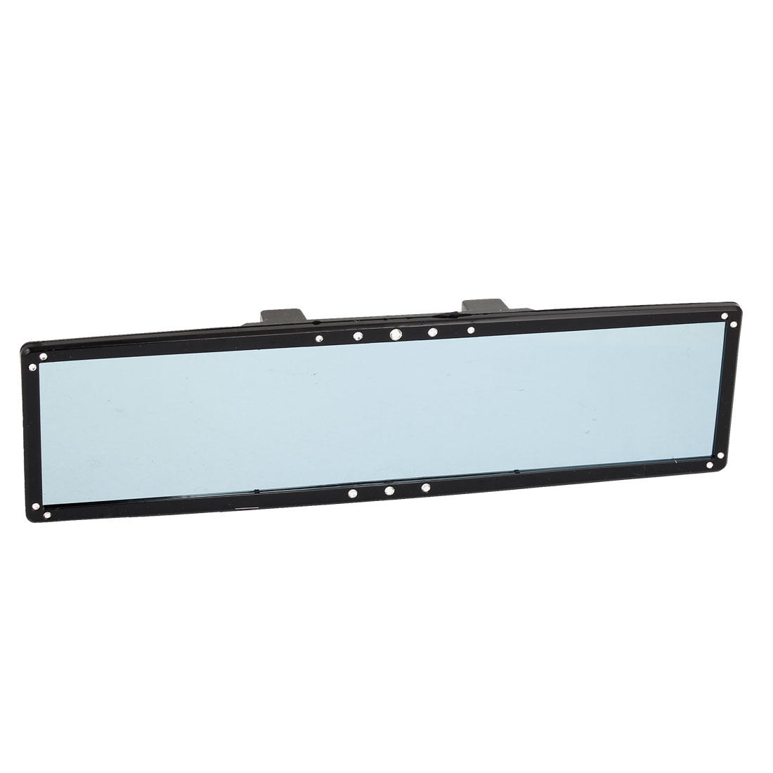 280mm Wide Flat Black Frame Auto Car Interior Wide Blue Rearview Mirror