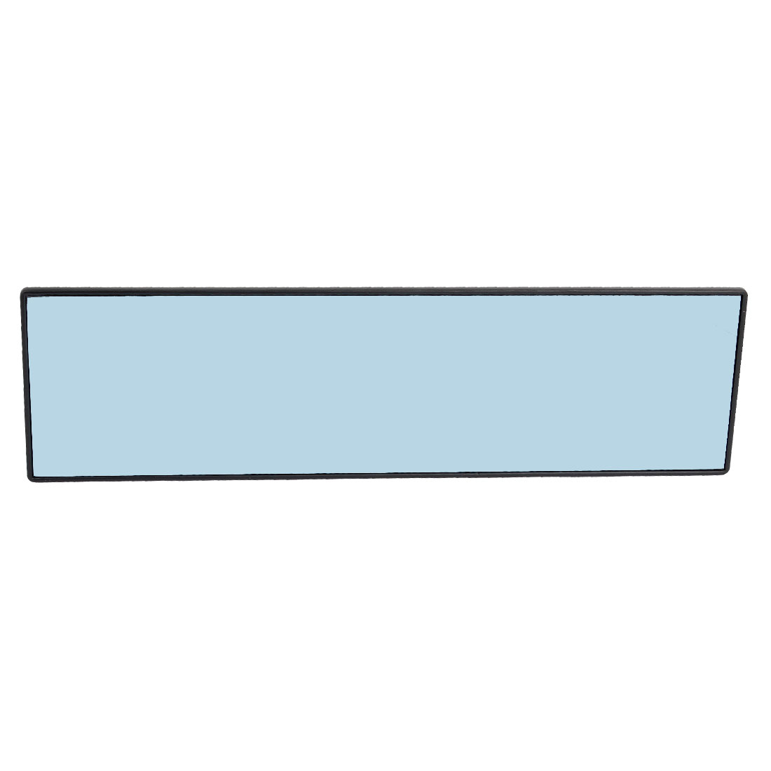 330mm x 90mm Black Plastic Frame Car Interior Flat Blue Glass Rearview Mirror