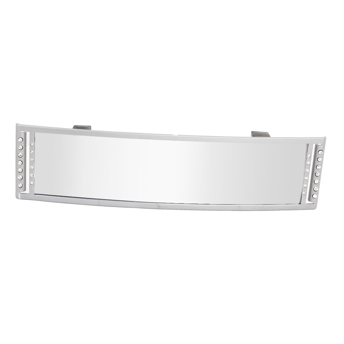270mm Car Interior Gray Plastic Frame Wide Angle Rearview Mirror