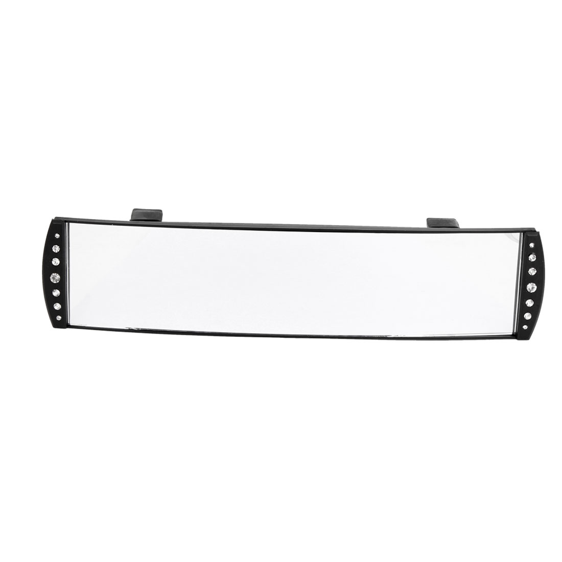 JDM 270mm Wide Curve Interior Black Plastic Rear View Mirror for Car SUV Truck