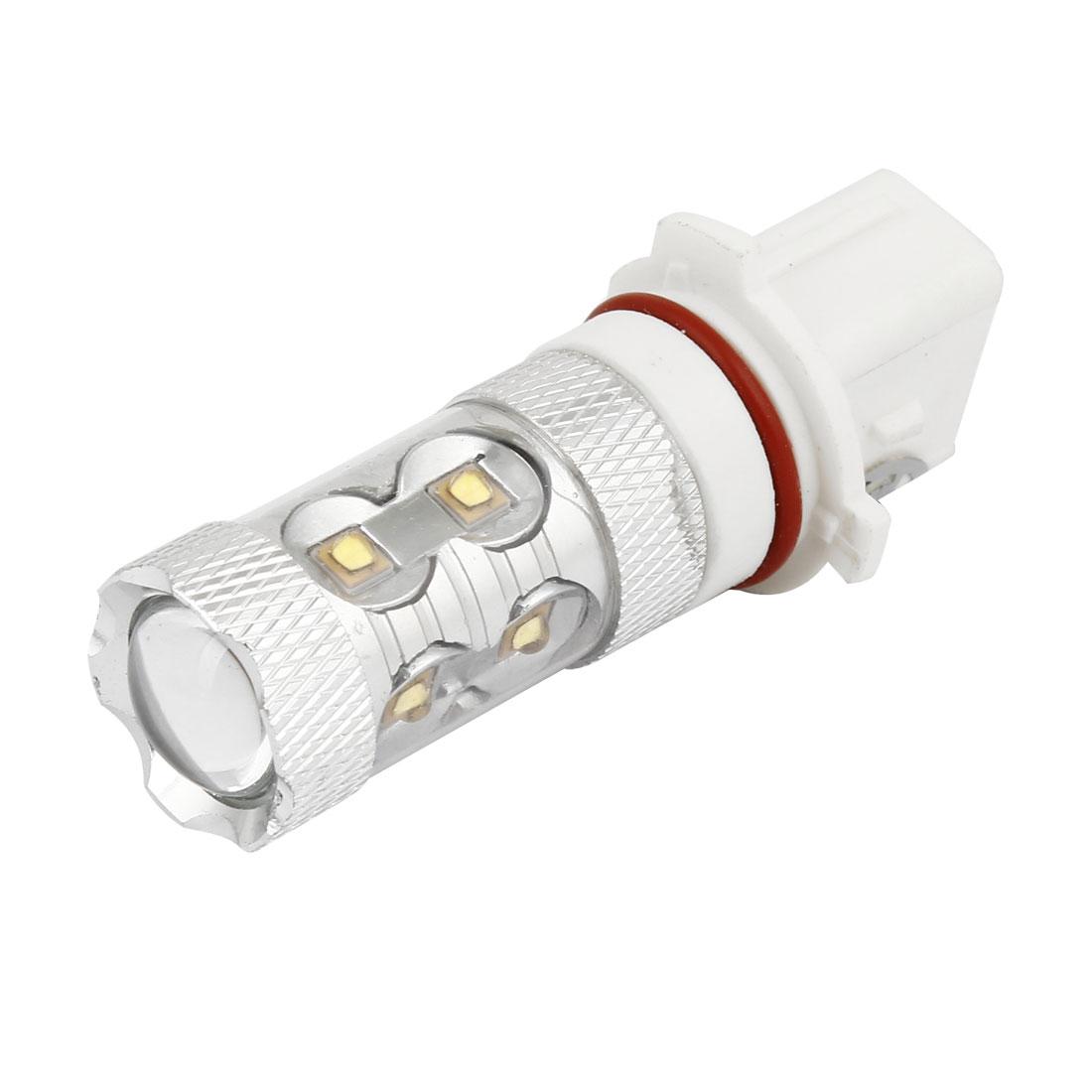 Car Auto P13W 10 SMD LED Strob Flash Steady Bright White Fog Head Light Bulb Lamp DC 12V 50W