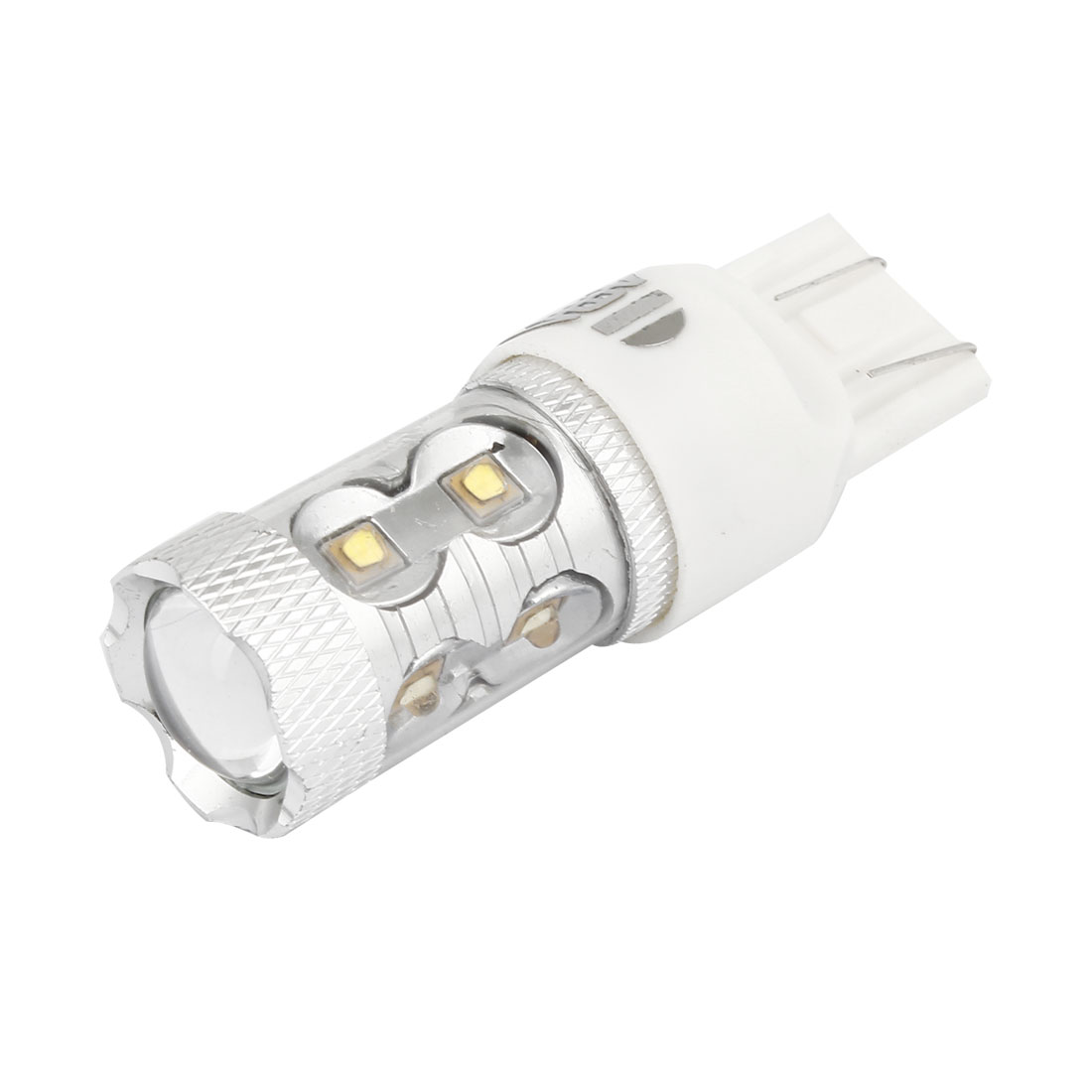 White T20 7443 10 SMD LED Strob Flash Steady Bright Backup Light Tail Turning Lamp Bulb 50W 12V