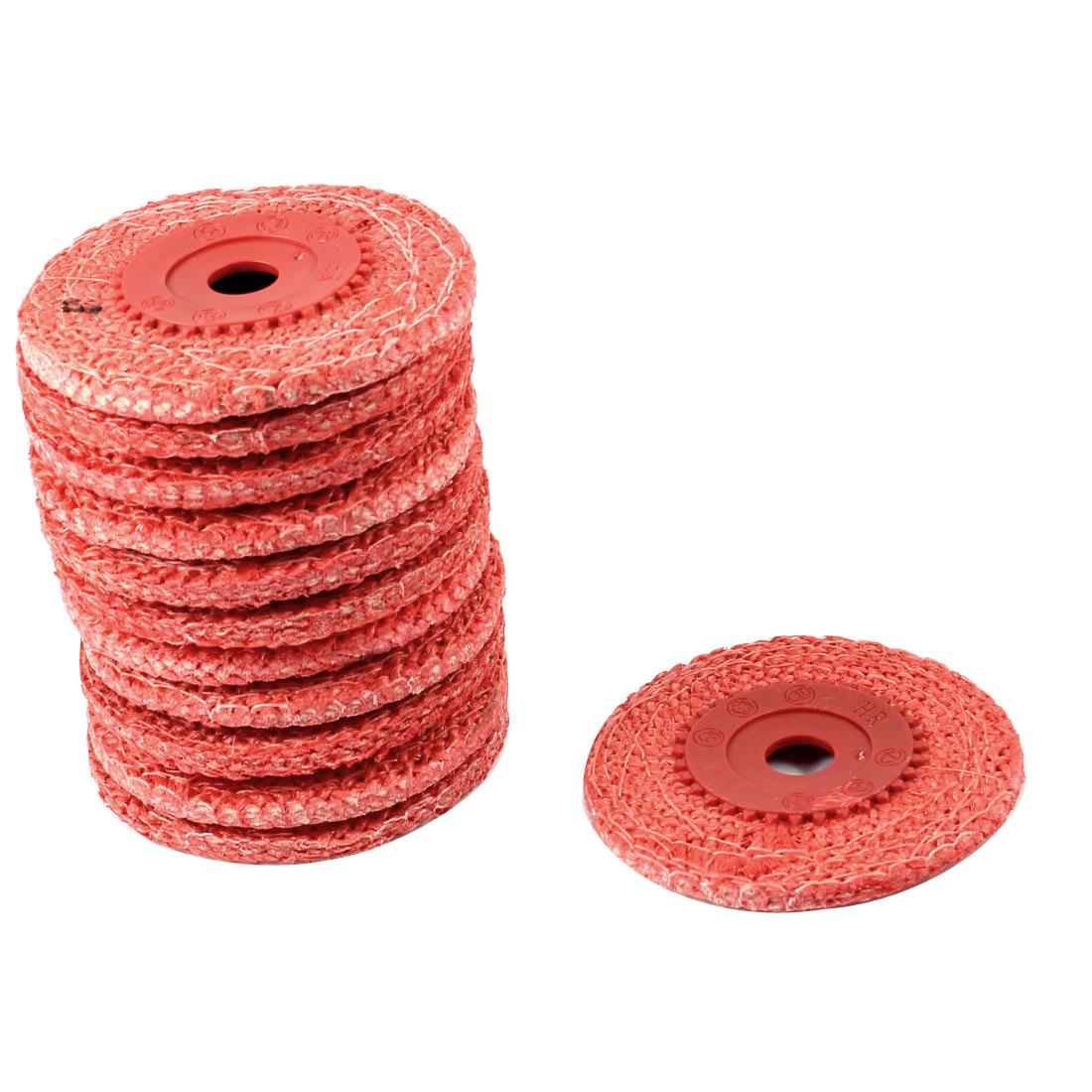 "12 Pcs 4"" Dia Hemp Rope Abrasive Flap Disc Polishing Grinding Wheel"