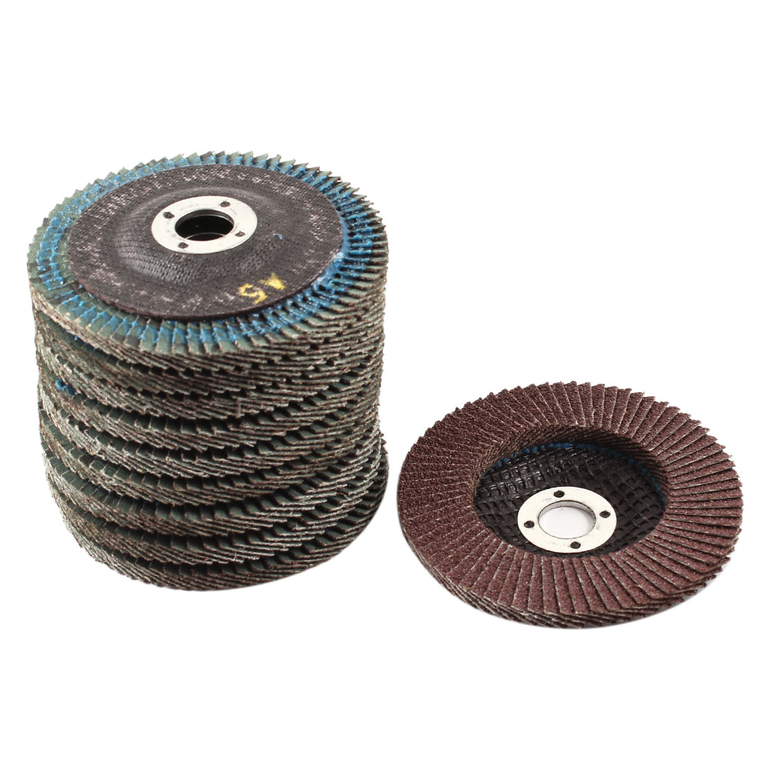 Metal Polishing 100mm Dia 60# Flap Sanding Abrasive Wheels Discs 10Pcs