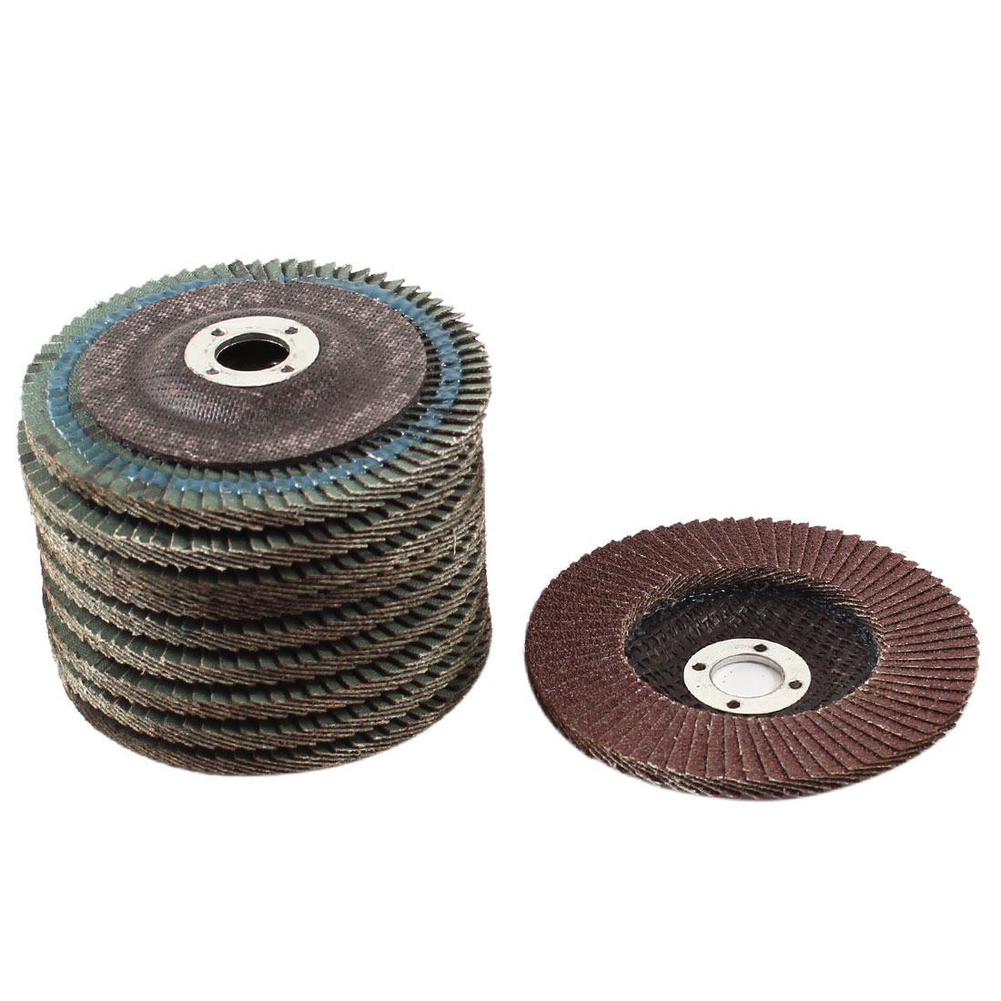 Metal Polishing 100mm Dia 80# Flap Sanding Abrasive Wheels Discs 10Pcs