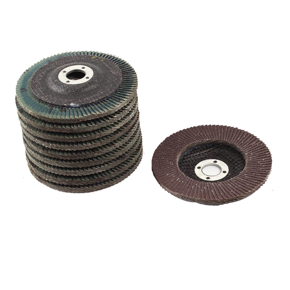 "Metal Polishing 4"" Dia 120# Flap Sanding Abrasive Wheels Discs 10Pcs"