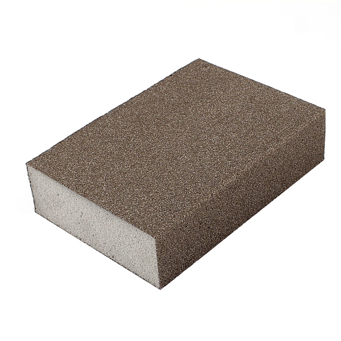 Rectangle Fine Sanding Grinding Sponge Block Brown 100mm x 70mm x 25mm