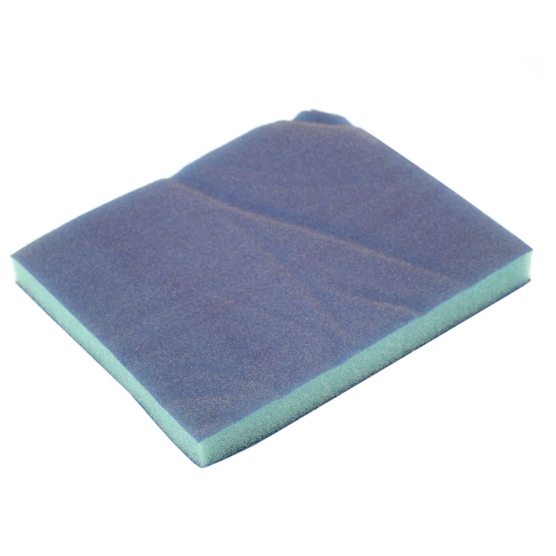 Rectangle Fine Grinding Sanding Sponge Block Blue 120mm x 98mm x 13mm