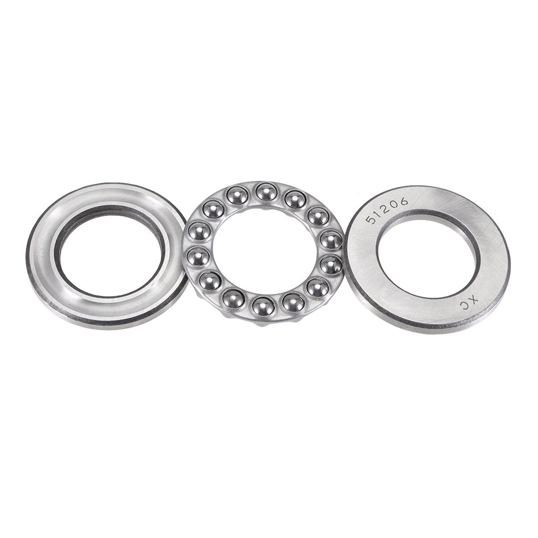Carbon Steel Ball Thrust Bearing 51206 30mm x 52mm x 16mm