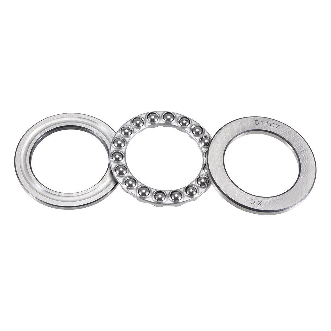 Carbon Steel Ball Thrust Bearing 51107 35mm x 52mm x 12mm