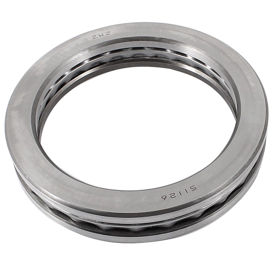 Carbon Steel Ball Thrust Bearing 51126 130mm x 170mm x 30mm