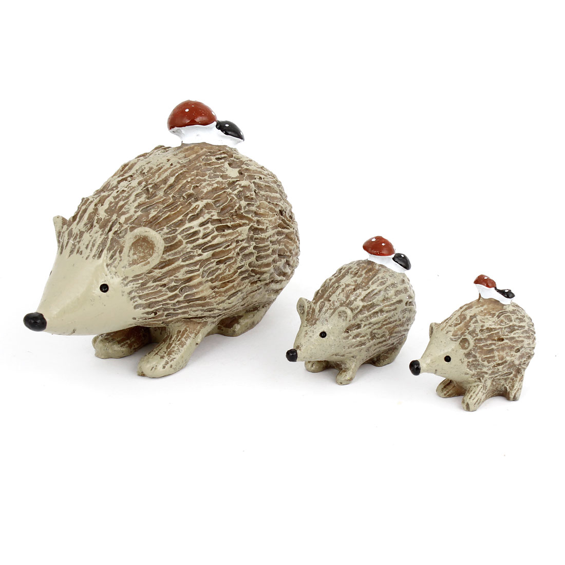 3 in 1 Tabletop Adorn Craft Hedgehog Decoration Brown
