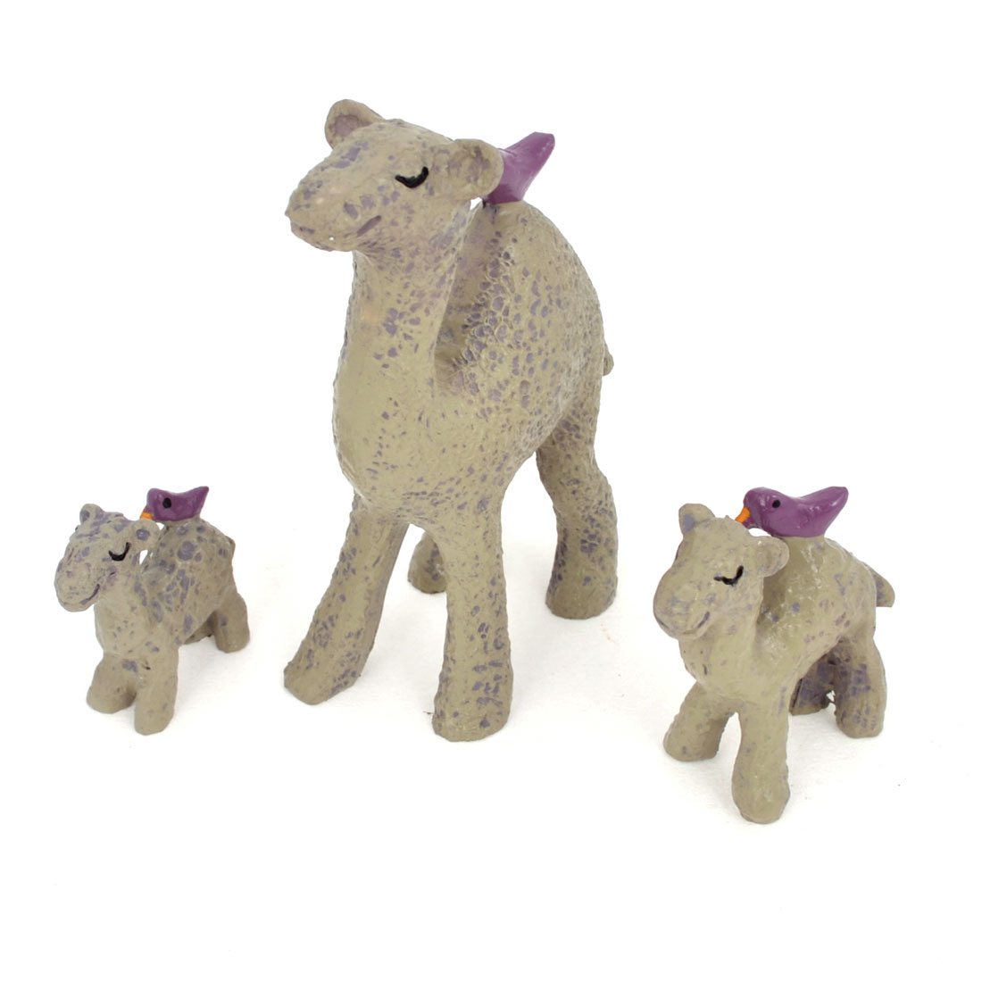 3 in 1 Purple Gray Resin Handicraft Emulational Animal Camel for Office