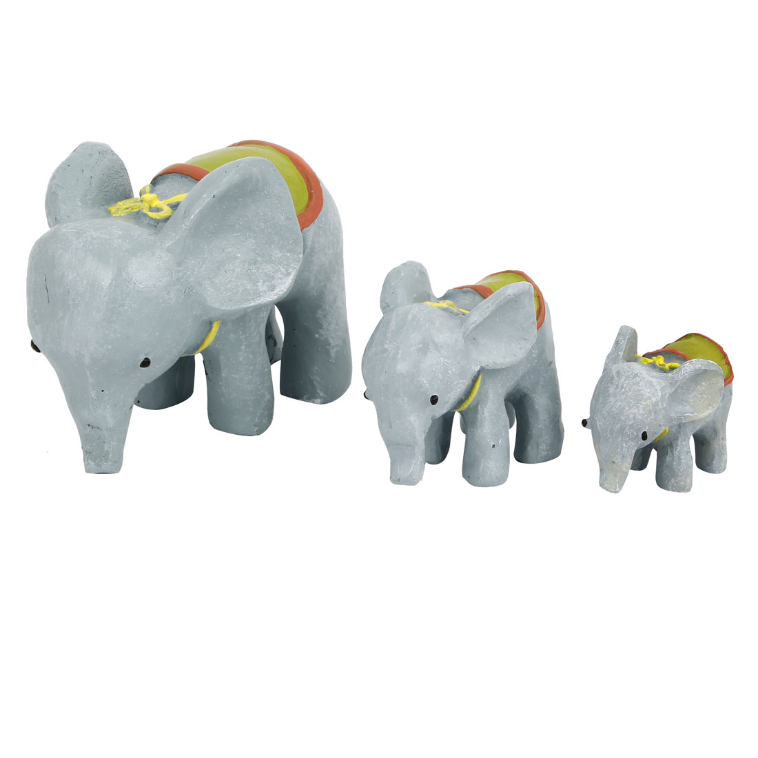 3 in 1 Tabletop Adorn Craft Elephant Decoration Gray
