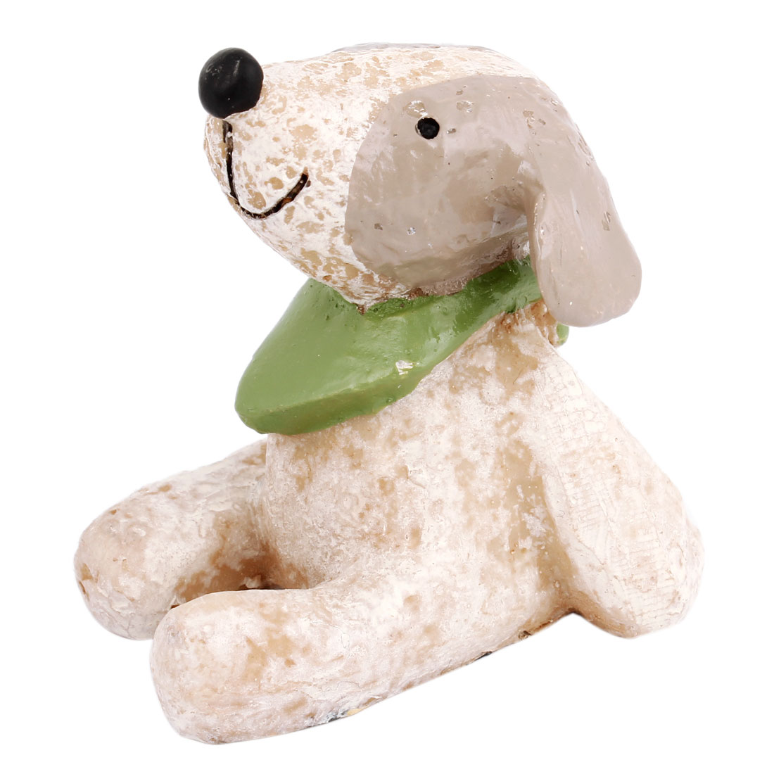 Tabletop Adorn Handmade Craft Dog Shape Ornament Ivory White