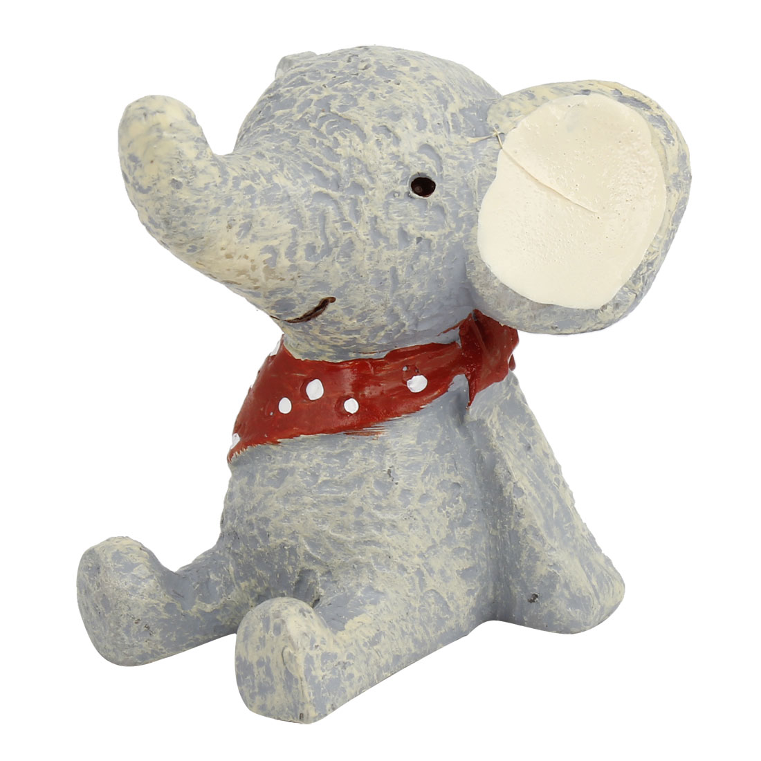 Gray Resin Handicraft Scarf Dressing Elephant Decoration
