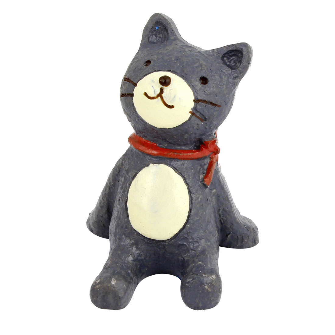Tabletop Adorn Handmade Craft Cat Shape Ornament Gray