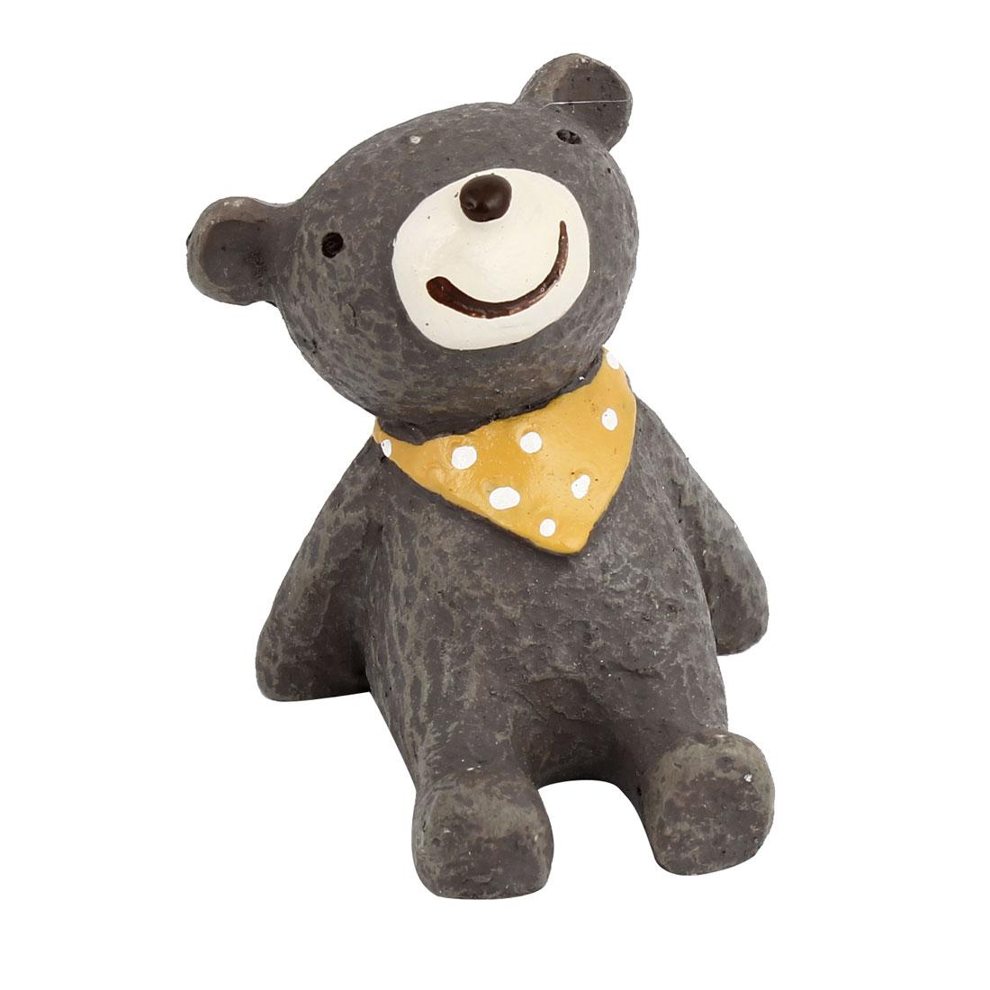 Tabletop Adorn Handmade Craft Bear Ornament Gray