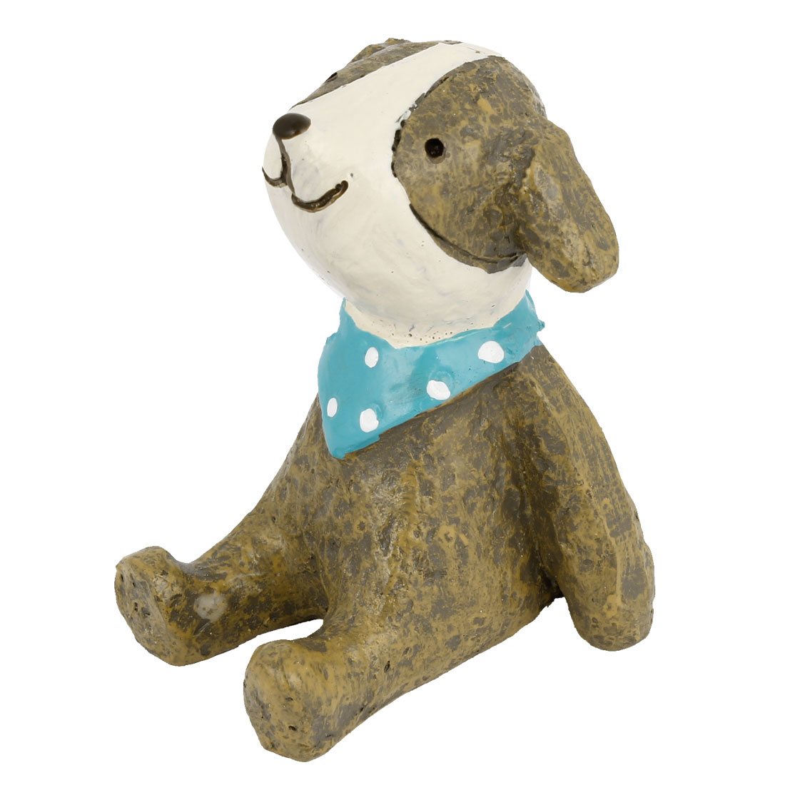 Tabletop Adorn Handmade Craft Dog Shape Decoration Khaki