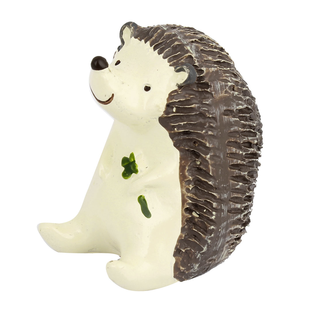 Handmade Craft Hedgehog Ornament Chocolate Color Off White