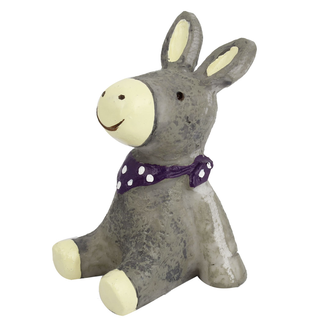 Tabletop Adorn Handmade Craft Donkey Shape Ornament Gray