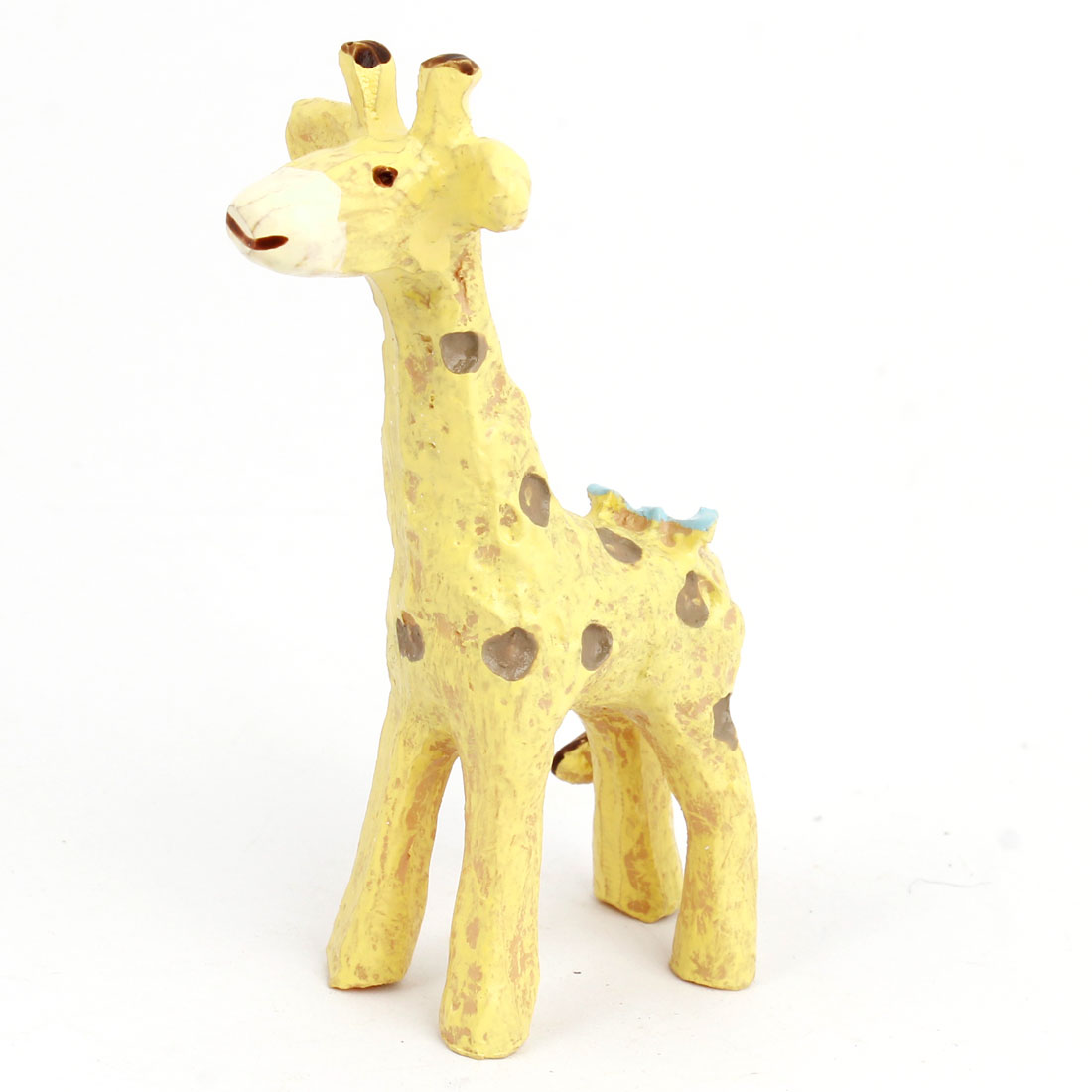 Tabletop Adorn Simulation Giraffe Shape Ornament Beige