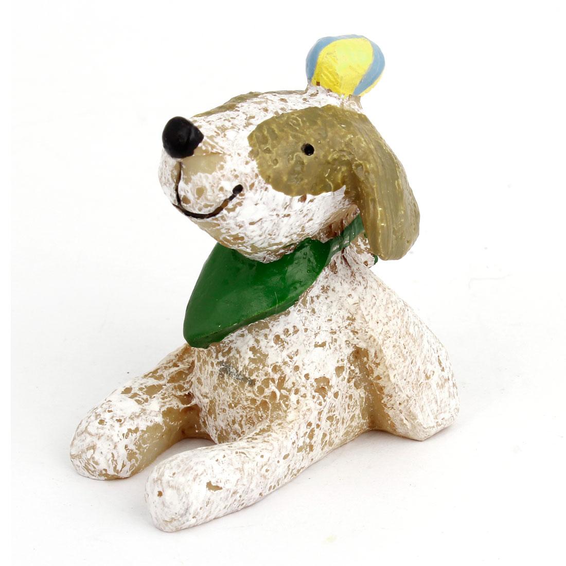 Scarf Wearing Pekingese Dog Shape Animal Ornament White
